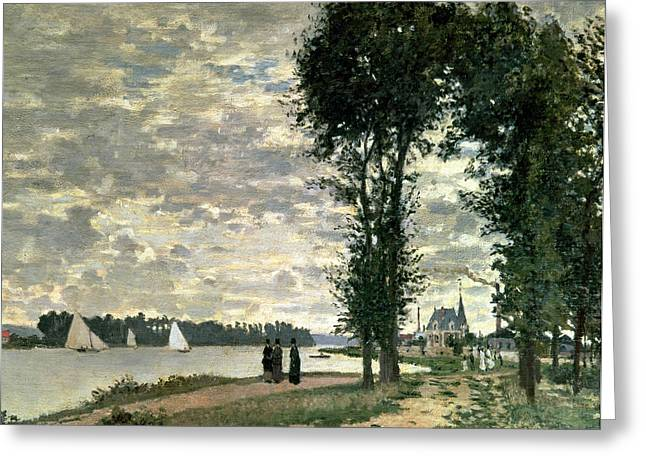 Yachting Greeting Cards - The Banks of the Seine at Argenteuil Greeting Card by Claude Monet