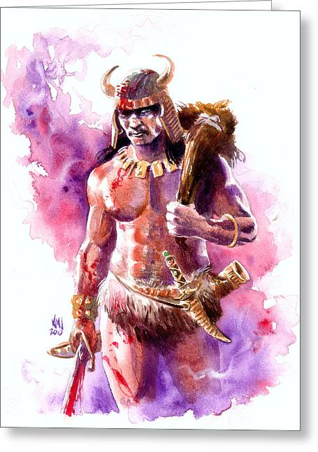The Barbarian Greeting Card by Ken Meyer jr