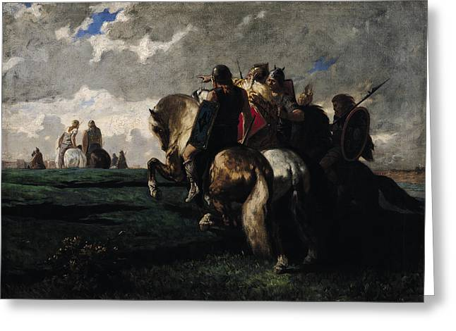 The Barbarians Before Rome Greeting Card by Evariste Vital  Luminais