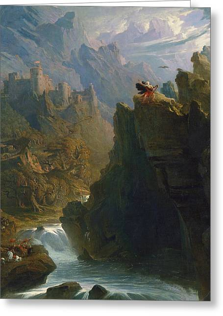 The Bard Greeting Card by John Martin