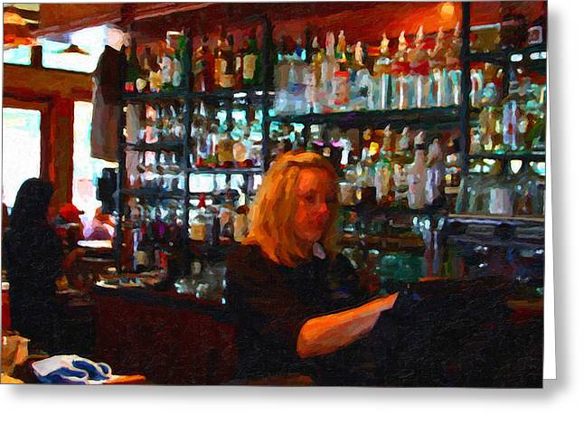 Hangout Greeting Cards - The Barmaid Greeting Card by Wingsdomain Art and Photography