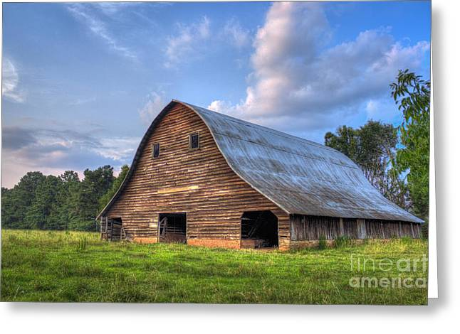 Once Upon A Time The Barn At Philomath Georgia Greeting Card by Reid Callaway