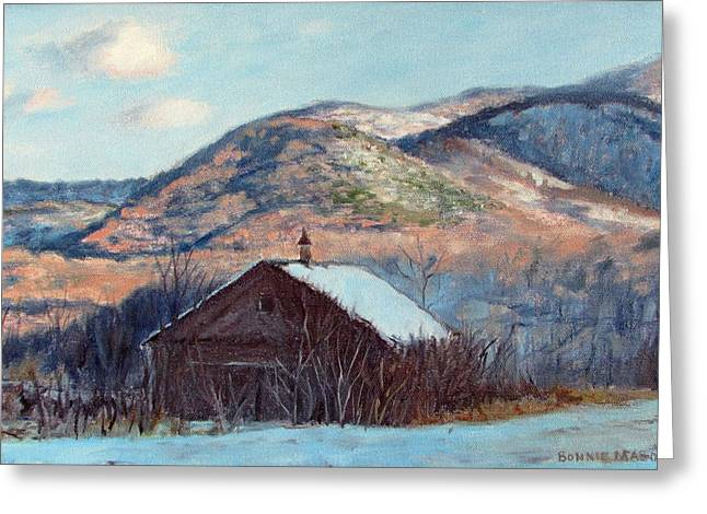 The Barn In Winter Greeting Card