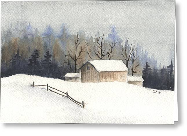 The Barn Greeting Card by Jan Anderson