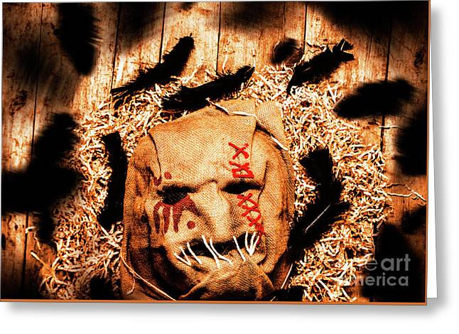 The Barn Monster Greeting Card by Jorgo Photography - Wall Art Gallery
