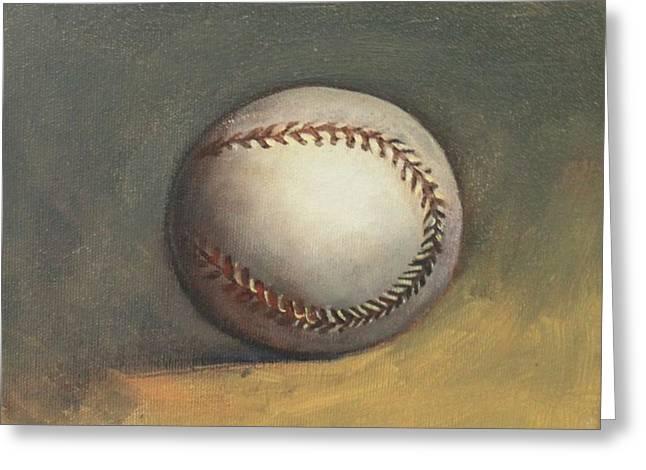 The Baseball Greeting Card by Teri Vaughn
