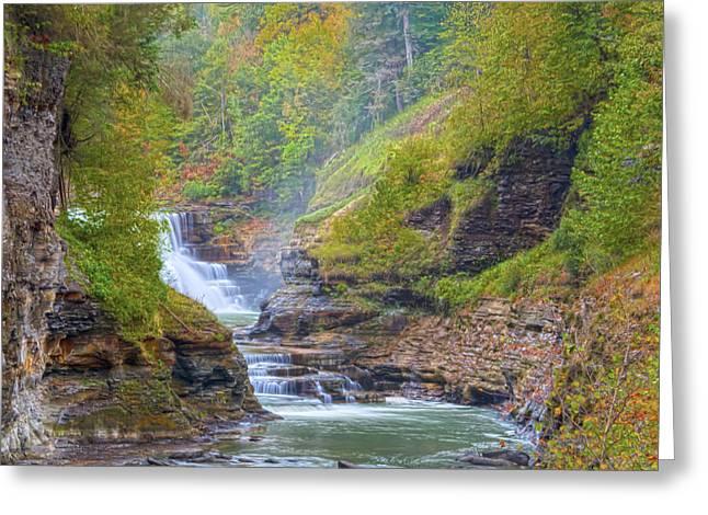 The Bashful Lower Falls Greeting Card