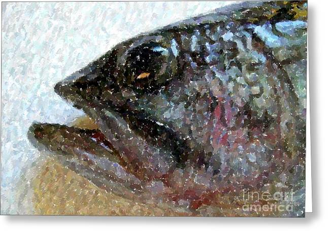 The Bass Greeting Card by Carol Grimes