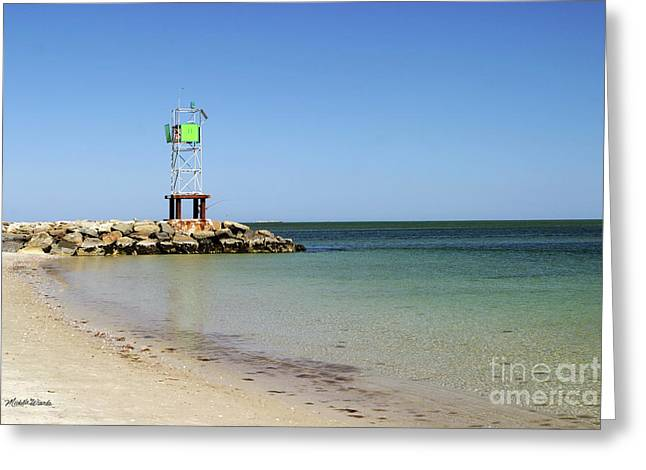 The Bass River Jetty South Yarmouth Cape Cod Massachusetts Greeting Card by Michelle Wiarda
