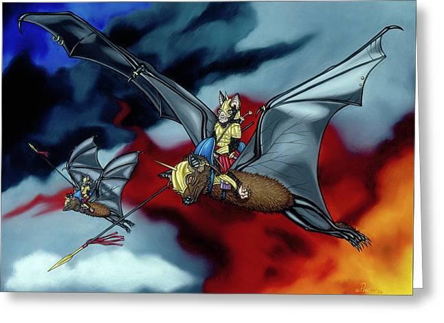 The Bat Riders Greeting Card