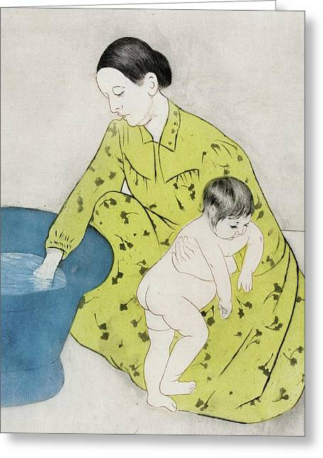 The Bath Greeting Card by Mary Stevenson Cassatt