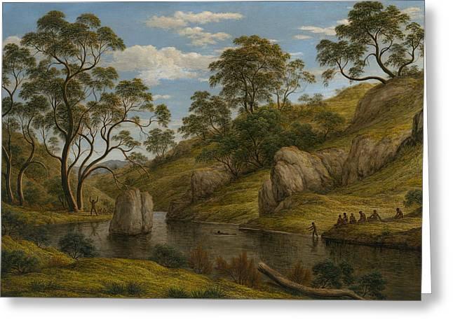 The Bath Of Diana, Van Diemen's Land Greeting Card