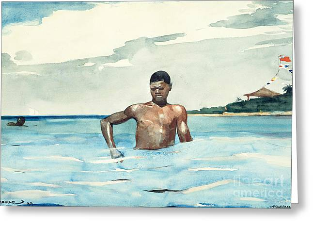 The Bather, 1899 Greeting Card by Winslow Homer