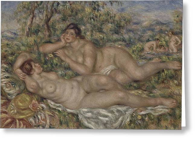 The Bathers Greeting Card by Auguste Renoir