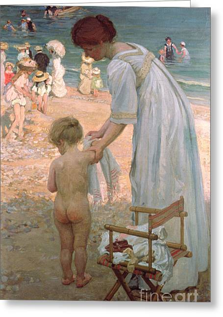 The Bathing Hour  Greeting Card by Emmanuel Phillips Fox