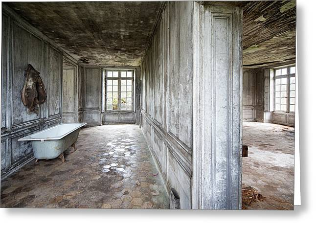 The Bathroom Next Door - Urban Exploration Greeting Card