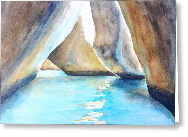 The Baths Water Cave Path Greeting Card