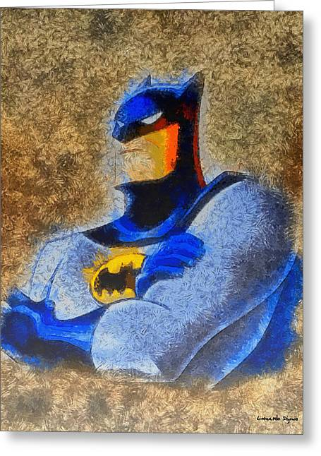 The Batman - Pa Greeting Card by Leonardo Digenio