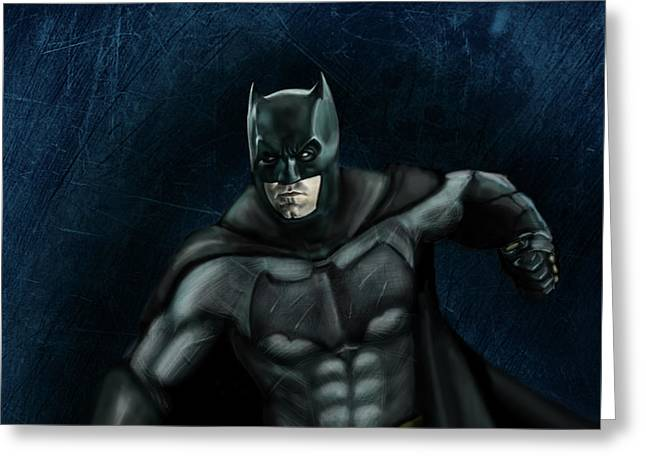 The Batman Greeting Card by Vinny John Usuriello