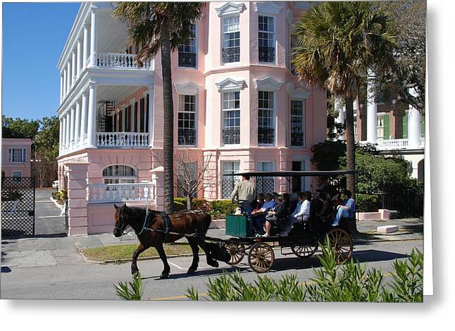 The Battery In Charleston Greeting Card by Susanne Van Hulst
