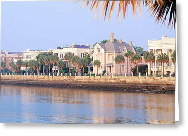 The Battery, Waterfront, Charleston Greeting Card by Panoramic Images