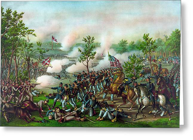 The Battle Of Atlanta Greeting Card by War Is Hell Store