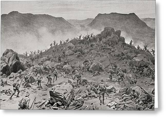 Bayonet Drawings Greeting Cards - The Battle Of Belmont, 23 November Greeting Card by Ken Welsh
