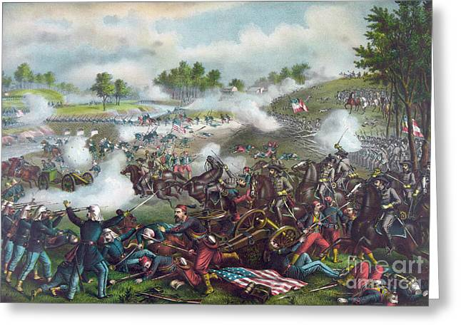 The Battle Of Bull Run Greeting Card by American School