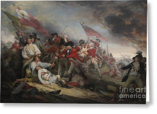 The Battle Of Bunker's Hill On June 17th 1775 Greeting Card