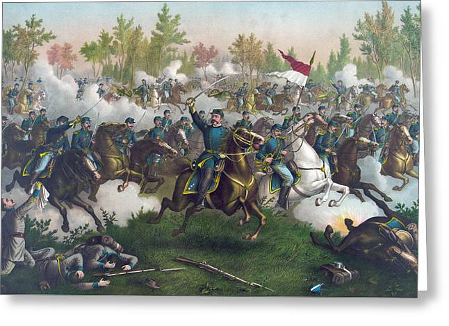 The Battle Of Cedar Creek,  Greeting Card by American School