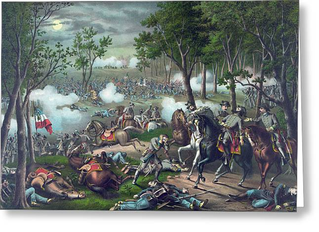 The Battle Of Chancellorsville Greeting Card by American School