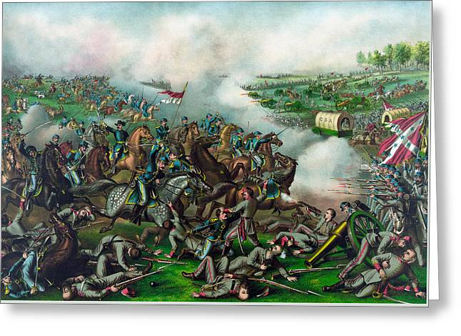 The Battle Of Five Forks Greeting Card