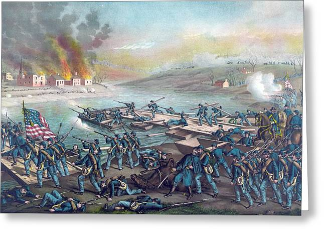 The Battle Of Fredericksburg Greeting Card by American School