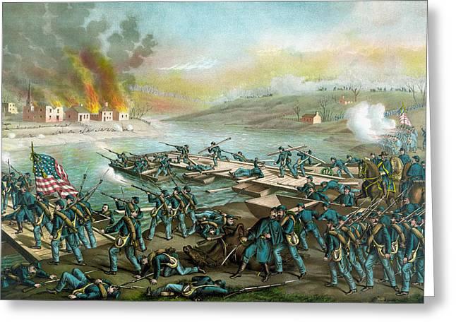 The Battle Of Fredericksburg - Civil War Greeting Card