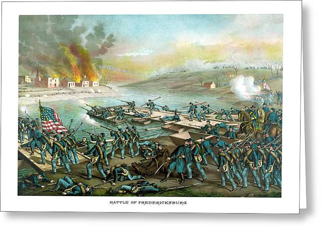 Civil War Battlefield Greeting Cards - The Battle of Fredericksburg Greeting Card by War Is Hell Store