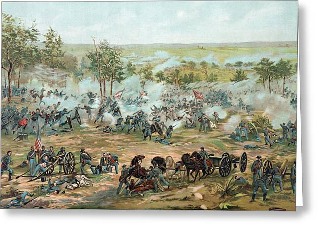 The Battle Of Gettysburg Greeting Card by Paul Dominique Philippoteaux