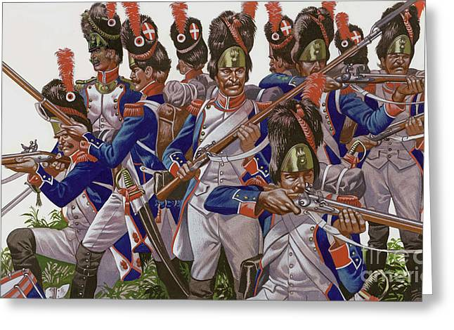 The Battle Of Jena, Grenadiers Of The French Imperial Guard Greeting Card