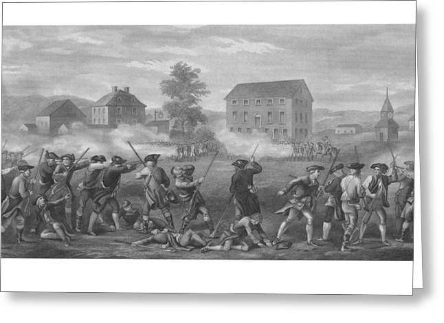Concord Greeting Cards - The Battle of Lexington Greeting Card by War Is Hell Store