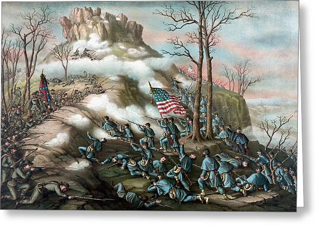 The Battle Of Lookout Mountain  Greeting Card
