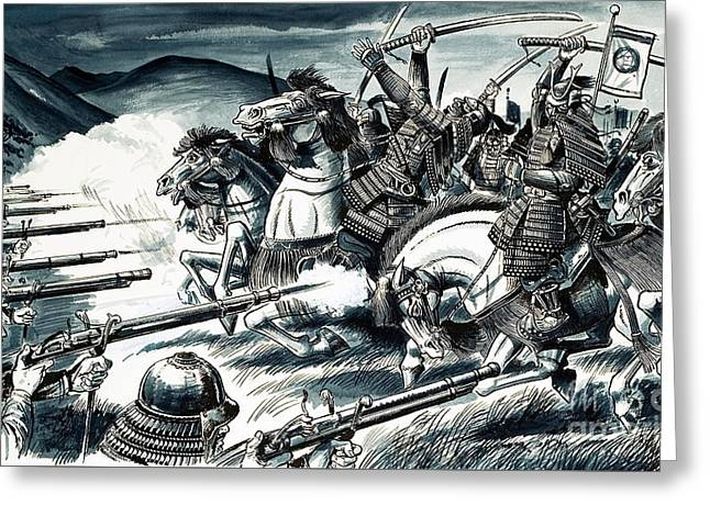 The Battle Of Nagashino In 1575 Greeting Card by Dan Escott