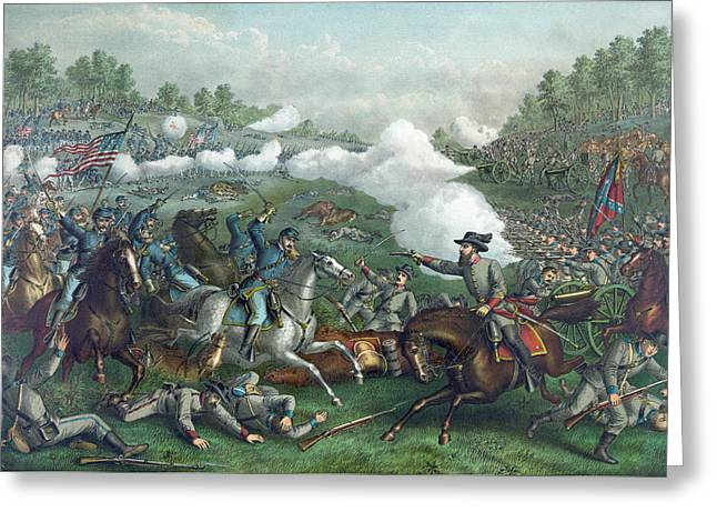The Battle Of Opequan Greeting Card