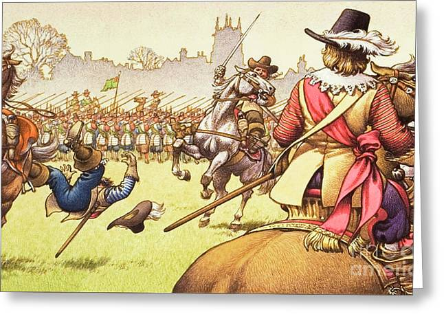 The Battle Of Turnham Green Greeting Card by Pat Nicolle