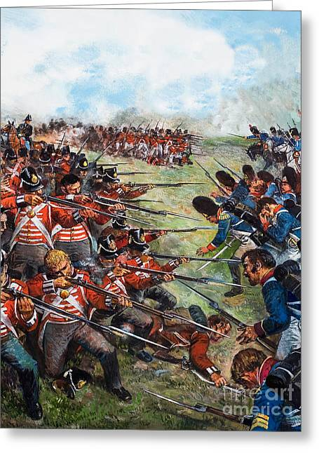 The Battle Of Waterloo, 1815 Greeting Card by Clive Uptton
