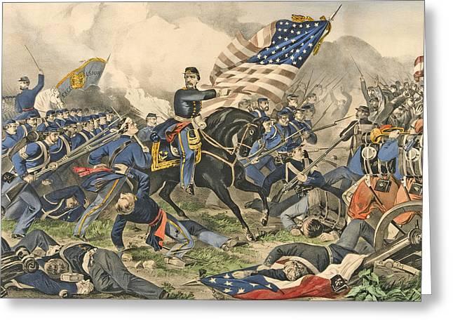 The Battle Of Williamsburg, Va Greeting Card