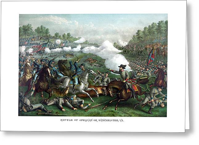 The Battle Of Winchester Greeting Card
