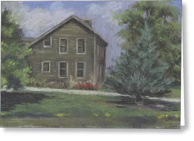 The Bauer Farm Greeting Card by Terri  Meyer
