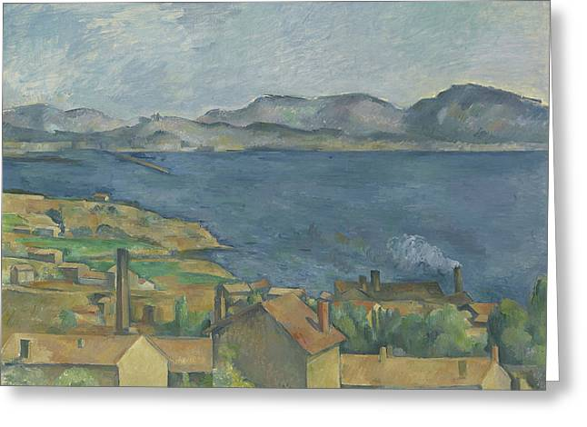 The Bay Of Marseille Greeting Card by Paul Cezanne