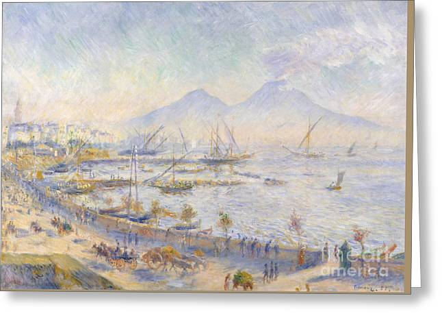 The Bay Of Naples, 1881 Greeting Card by Pierre Auguste Renoir