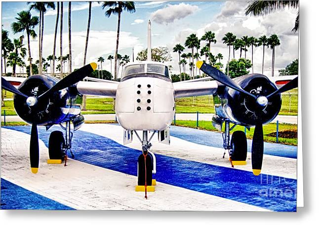 The Bay Of Pigs Bomber Greeting Card by Dieter Lesche