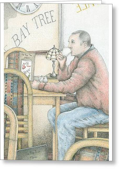 The Bay Tree Cafe Clock Greeting Card